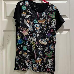 TokiDoki Galaxy Print Tee Shirt XL